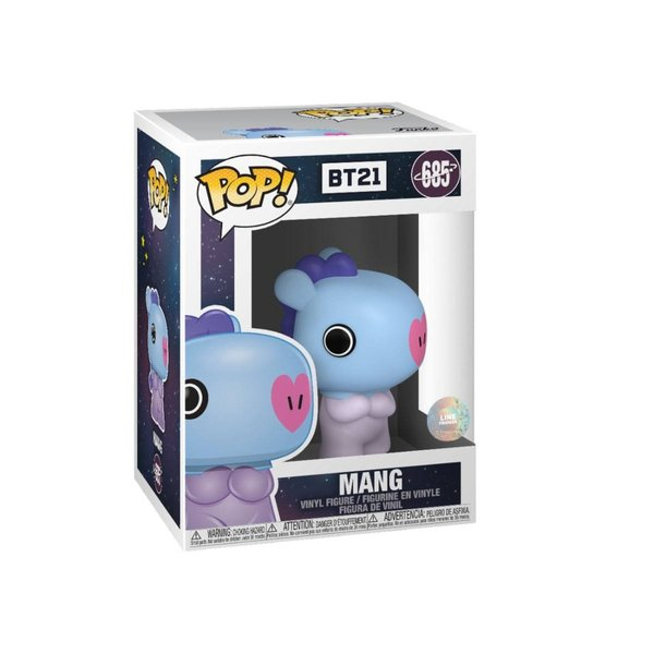 BT21 Line Friends POP! Animation Vinyl Figur Mang 9 cm