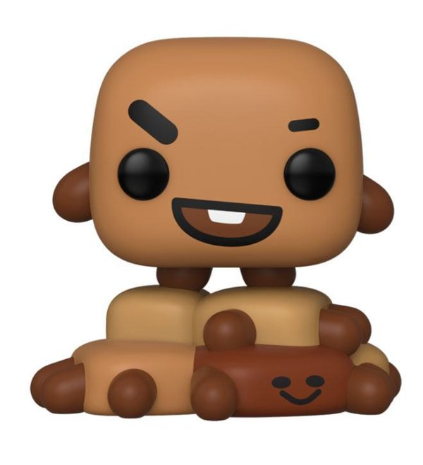 BT21 Line Friends POP! Animation Vinyl Figur Shooky 9 cm