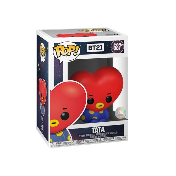 BT21 Line Friends POP! Animation Vinyl Figur Tata 9 cm