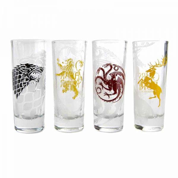 Game of Thrones Schnapsgläser 4er-Pack Sigils