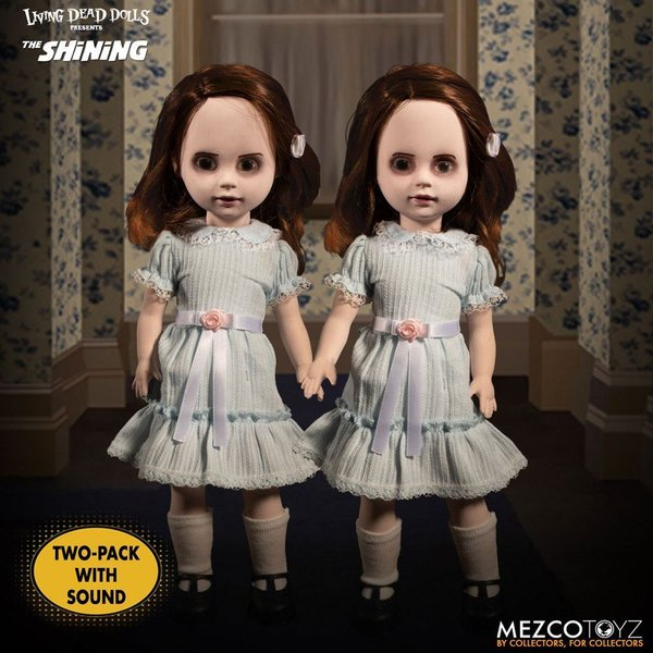 Shining Living Dead Dolls Puppen mit Sound The Grady Twins 25 cm