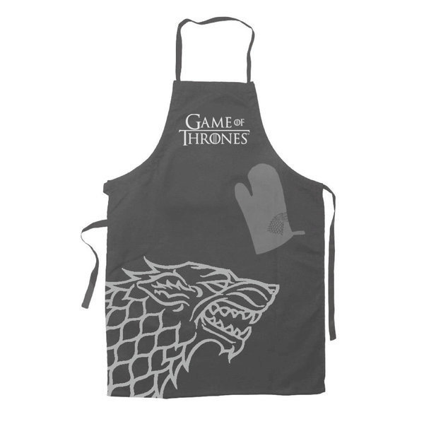 Game of Thrones Kochschürze mit Handschuh Hear Me Roar House Stark