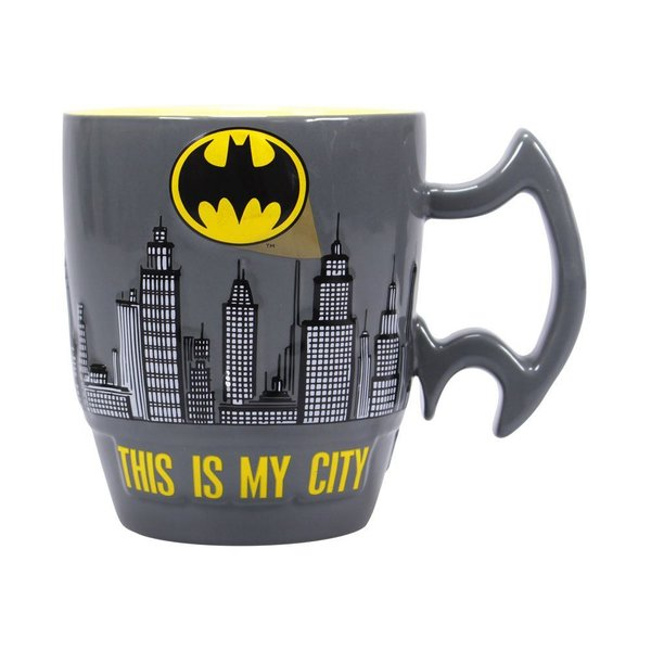 Batman Embossed Tasse City Scene