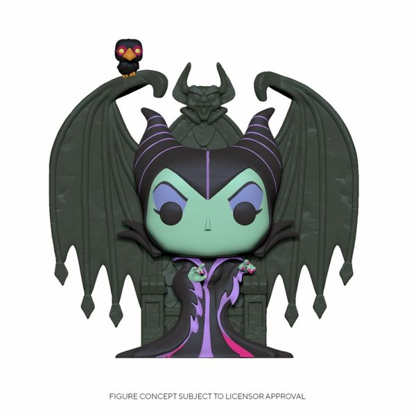 Disney POP! Deluxe Movies Vinyl Figur Maleficent on Throne 9 cm