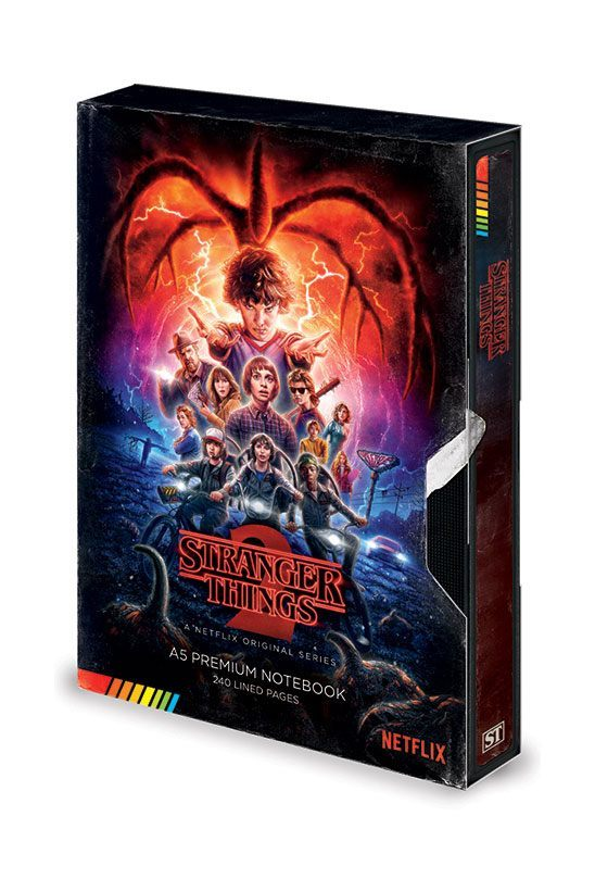 Stranger Things Premium Notizbuch A5 VHS (S2)