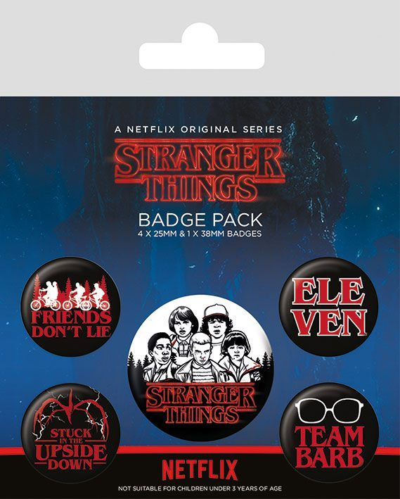 Stranger Things Ansteck-Buttons 5er-Pack Characters