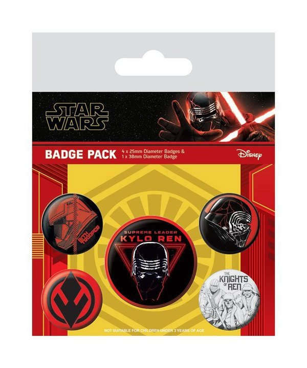 Star Wars Episode IX Ansteck-Buttons 5er-Pack Sith