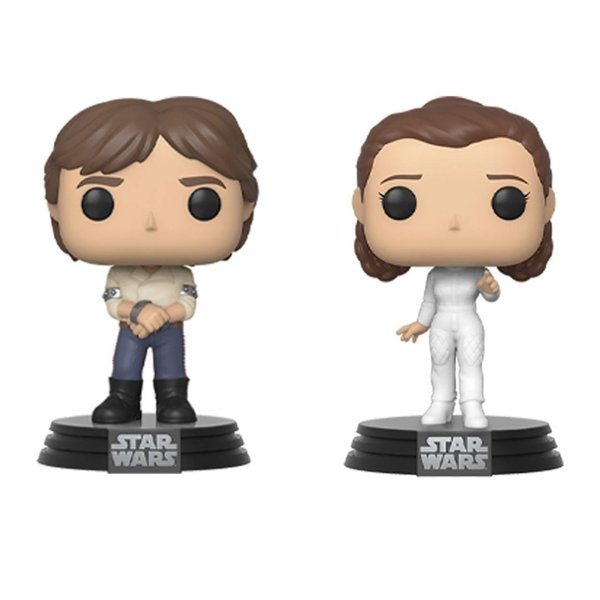 Star Wars POP! Movies Vinyl Figuren 2er-Pack Han & Leia Empire Strikes Back 40th Anniversary 9 cm