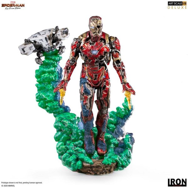 Spider-Man Far From Home BDS Art Scale Deluxe Statue 110 Iron Man Illusion 21 cm