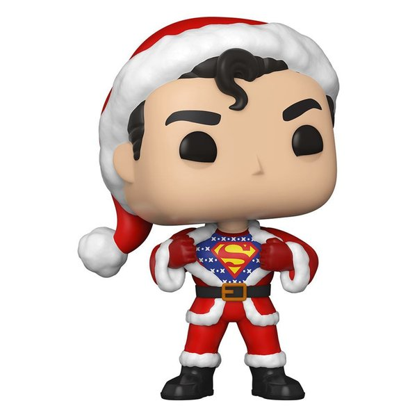 DC Comics POP! Heroes Vinyl Figur DC Holiday: Superman in Holiday Sweater 9 cm
