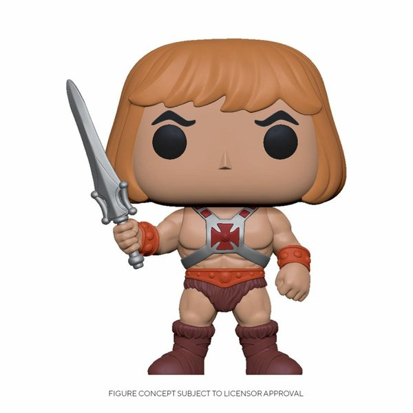Masters of the Universe POP! Animation Vinyl Figur He-Man 9 cm