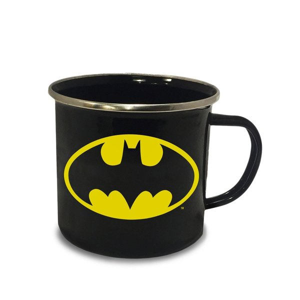 Batman Emaille Tasse Logo