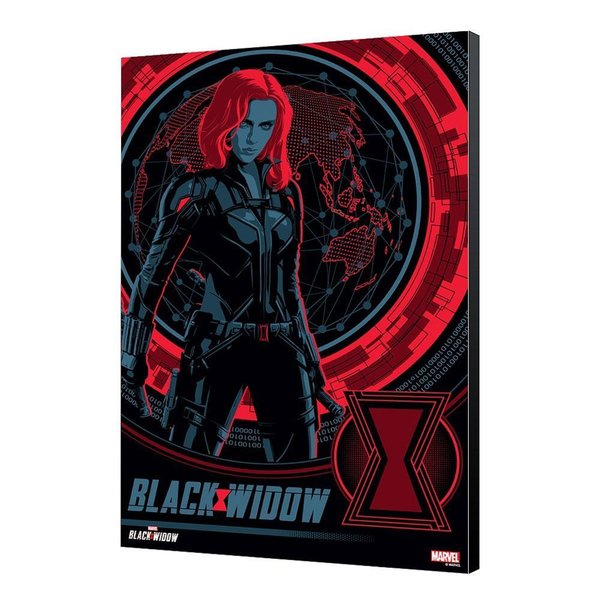 Black Widow Movie Holzdruck BW Blackops 34 x 50 cm