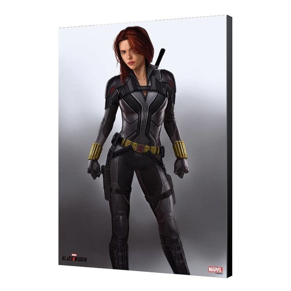 Black Widow Movie Holzdruck BW Grey 34 x 50 cm