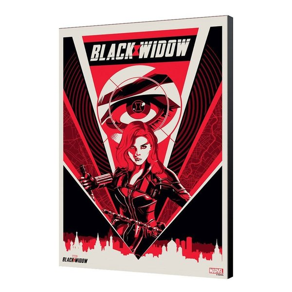 Black Widow Movie Holzdruck BW Moscow 34 x 50 cm