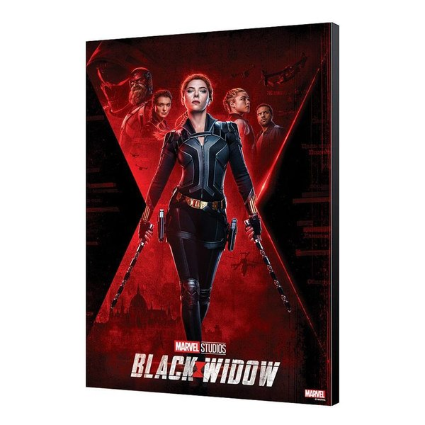 Black Widow Movie Holzdruck BW Movie Poster 34 x 50 cm
