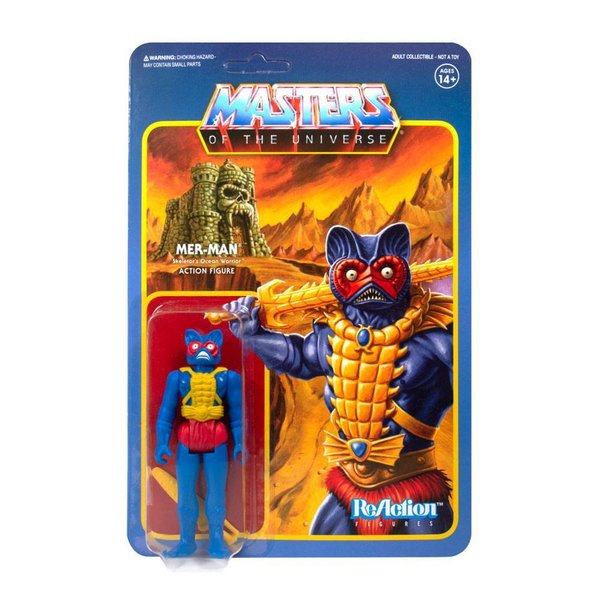 Masters of the Universe ReAction Actionfigur Mer-Man (Carry Case Color) 10 cm