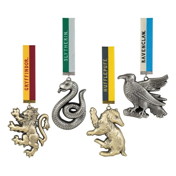 Harry Potter Christbaumschmuck 4er-Pack Hogwarts Mascots