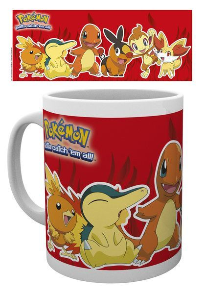 Pokemon Feuer Partners Tasse
