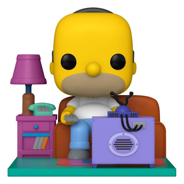 Simpsons POP! Deluxe Vinyl Figur Homer Watching TV 18 cm