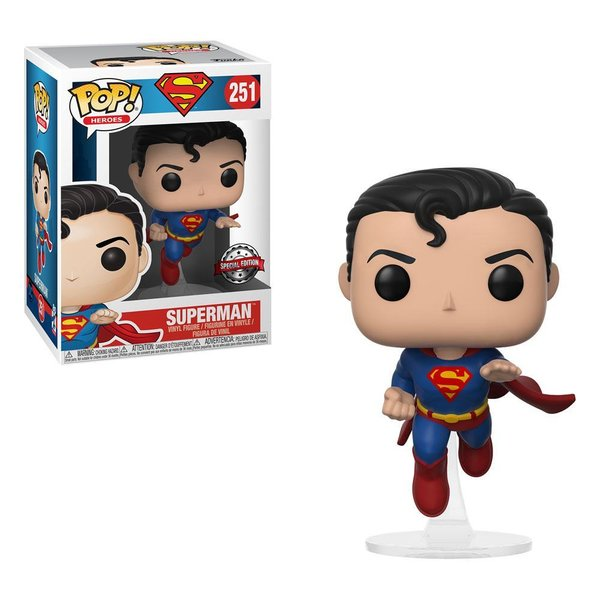 DC Comics POP! Heroes Vinyl Figur Specialty Series Flying Superman (80th Anniversary) 9 cm